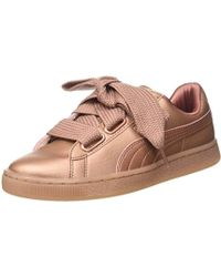 790606df132b PUMA Suede Heart Trainers In Copper in Brown - Lyst