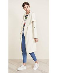 SOIA & KYO - Ornella Drapy Trench Coat - Lyst