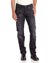 True Religion - Geno Slim-fit Engineered Super T Jean In Wrong Turn - Lyst
