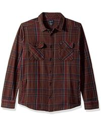 RVCA - Camino Flannel Long Sleeve Woven Shirt - Lyst