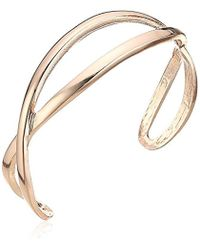 T Tahari - Rsg Hard Bangle Cuff Bracelet, Rose Gold - Lyst