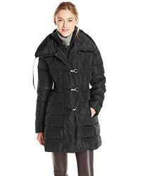 Jessica Simpson - Mid-length Down Coat With Clasp Closures - Lyst