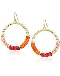Kate Spade - Pink/multicolored Hoop Earrings - Lyst