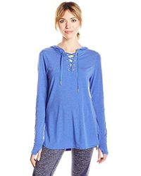Nanette Lepore - Play Hooded Pullover W/beaded Twill Tap D/s - Lyst