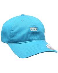 fe120173 Levi's Levi's Mini Batwing Baseball Cap In Blue in Blue for Men - Lyst