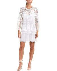 BCBGMAXAZRIA - Geo Lace A-line Dress - Lyst