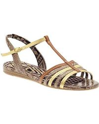 0178a1038a905 Lyst - Madden Girl Boise Footbed Thong Sandals in Metallic