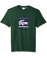 Lacoste - Short Sleeve Patch Graphic Jersey Regular Fit T-shirt, Th7461 - Lyst