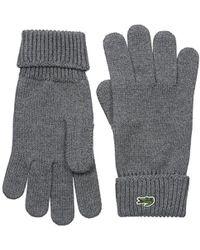 Lacoste - Green Croc Wool Gloves - Lyst