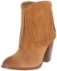Frye - Ilana Fringe Short Western Boot - Lyst