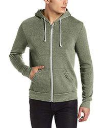 Alternative Apparel - Rocky Zip Hoodie Sweatshirt - Lyst