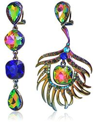 Betsey Johnson - S Oil Slick Peacock Non-matching Earrings - Lyst