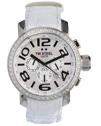 TW Steel - Unisex Tw54 Diamond Chronograph Watch - Lyst