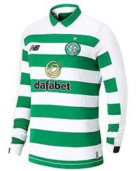 New Balance Celtic Fc 2019/20 S Long Sleeve Home Football Shirt