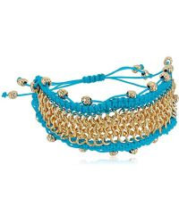 Sam Edelman - Chainmail Macrame Bracelet - Lyst