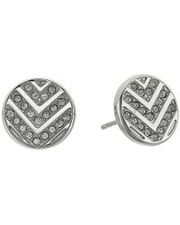 Fossil - S Chevron Glitz Studs Earrings - Lyst