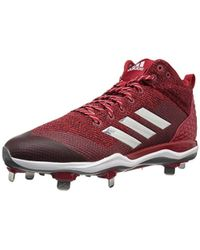 premium selection 47777 380b7 adidas - Freak X Carbon Mid Baseball Shoe, Power Red, Silver Met, Ftwr