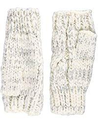 Dorothy Perkins - Lurx Fingerless Gloves, Off-white (cream), One (size: 1) - Lyst