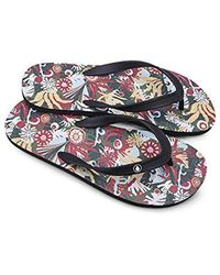 6f7dbb4f039ba5 Lyst - Volcom Rocker 2 Graphic Print Flip Flop Sandal for Men - Save 47%