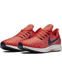 5b44101cf0602 Nike Air Zoom Pegasus 35 Men's Shoes (trainers) In Red in Red for ...
