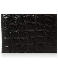 Bruno Magli - Croco Money Clip Wallet - Lyst