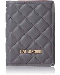 Love Moschino Portafogli Nappa Pu Grigio, Clutch, Grey, 1x14x10 Cm (b X H T) - Gray