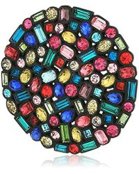 Trina Turk - Confetti And Cocktails Multi Color Stone Disc Brooches - Lyst