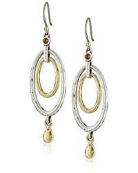 Lucky Brand - S Mary Jane Oval Orbital Earrings - Lyst