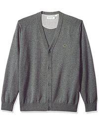 Lacoste - Long Sleeve Jersey Cardigan, Ah4564 - Lyst