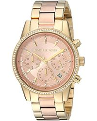 Michael Kors - Watches Ritz Two-tone Chronograph Watch - Lyst