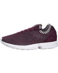 lyst adidas originals zx - flux - pk w sneaker mode in weiß