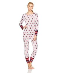 Lucky Brand - Microfleece Pajama Set - Lyst