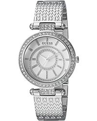 Guess - Stainless Steel Casual Textured Bracelet Watch - Lyst