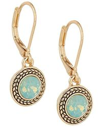 Napier - Silk Swarovski Crystal Drop Earrings - Lyst