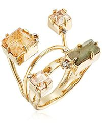 Alexis Bittar - Geometric Multi Stone With Satellite Crystal Detail Ring - Lyst