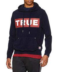 True Religion - Hoody Box Logo Solid Navy, Felpa Uomo - Lyst