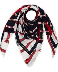Tommy Hilfiger - Logo Patch Square Scarf, (blue Mix 901), One (size: Os) - Lyst