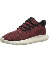 new concept 70688 53d74 adidas Originals - Tubular Shadow Ck Fashion Sneakers Running Shoe, Core  Blacktrace Scarlet