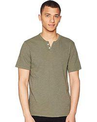 Joe's Jeans - Wintz Short Sleeve Slub Henley (sky Captain) Men's Clothing - Lyst