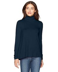 Three Dots - Refined Jersey Long Loose Shirt - Lyst