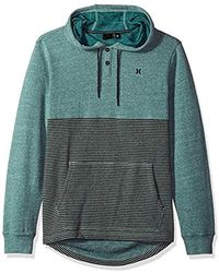Hurley - Textured With Stripe Pullover Hoodie - Lyst