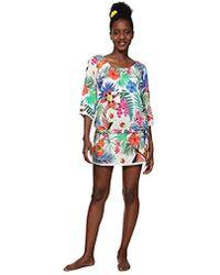 Desigual Top Swimwear Minowa Woman White Blusa para Mujer