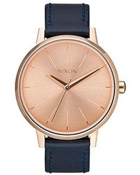 492c15b5d Lyst - Nixon Kensington Stainless Steel Watch With Leather Band in ...