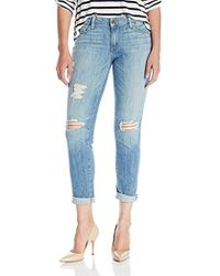 PAIGE - Jimmy Crop Jeans-angora Destructed - Lyst