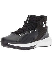Under Armour UA BGS Lockdown 3, Chaussures de Basketball garçon - Noir