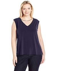Calvin Klein - Plus Size Sleeveless Top With Chain Necklace - Lyst
