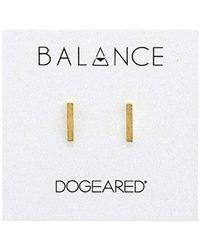 Dogeared - Balance Flat Bar Stud Earrings (gold) Earring - Lyst