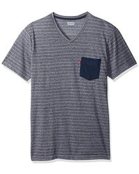 Levi's - Lentz Snow Jersey Stripe Pocket V-neck Shirt - Lyst