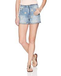 Vero Moda - Nineteen Floral Embroidery Shorts - Lyst