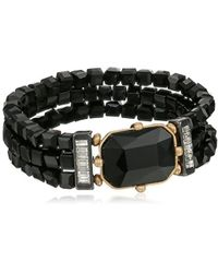 """Kenneth Cole - Geometric Faceted Bead Stretch Bracelet, 3"""" - Lyst"""